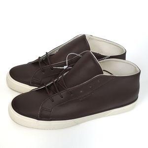 Superga Leather Mid-Top Dark Brown Sneakers 2754